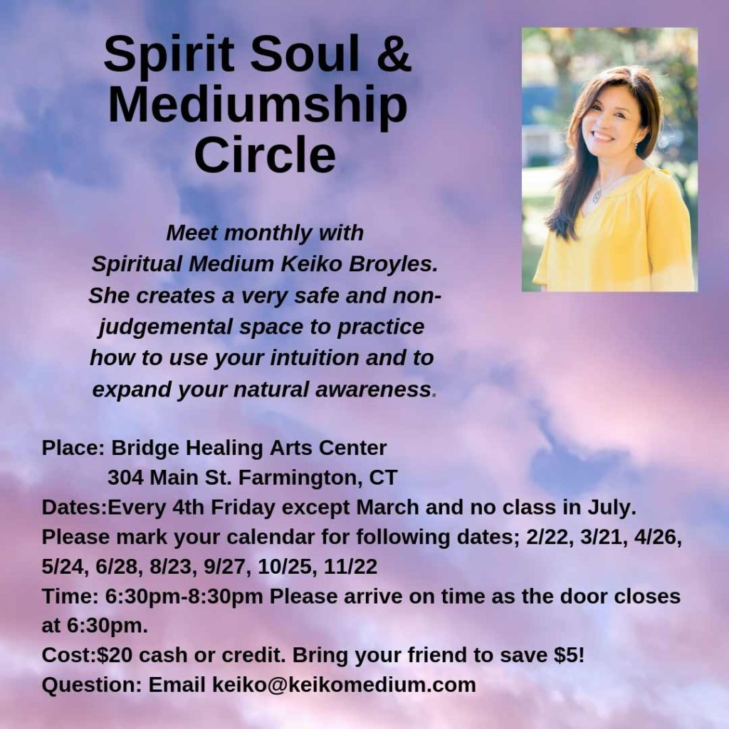 (CANCELLED) Spirit Soul & Mediumship Circle @ Bridge Healing Arts Center | Farmington | Connecticut | United States