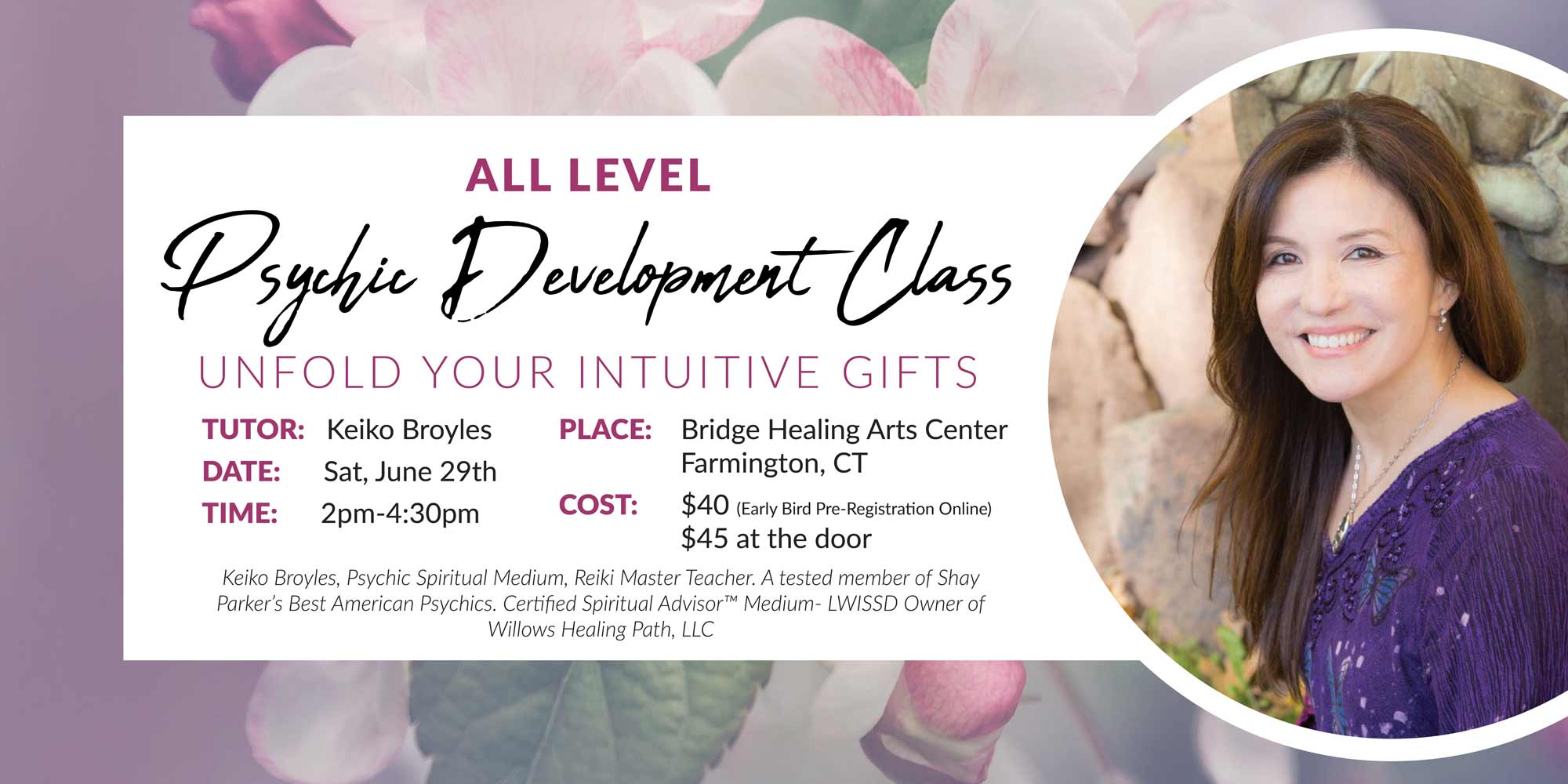 Psychic Development Class - Unfold Your Intuitive Gifts (ALL LEVEL) @ Bridge Healing Arts Center | Farmington | Connecticut | United States