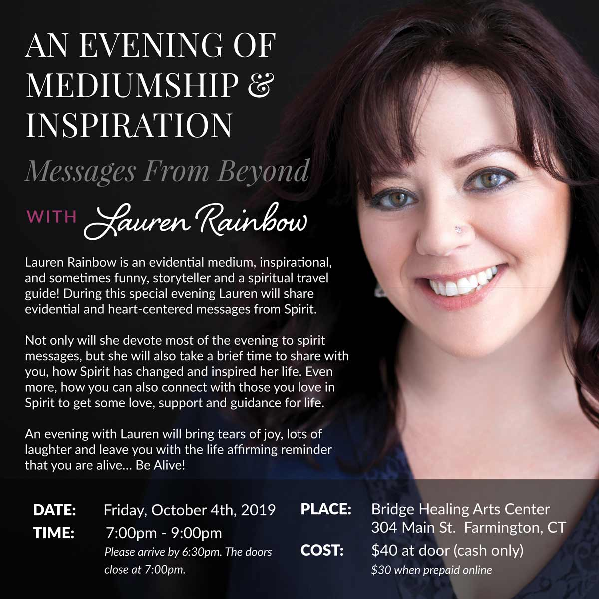 An Evening of Mediumship & Inspiration @ Bridge Healing Arts Center | Farmington | Connecticut | United States
