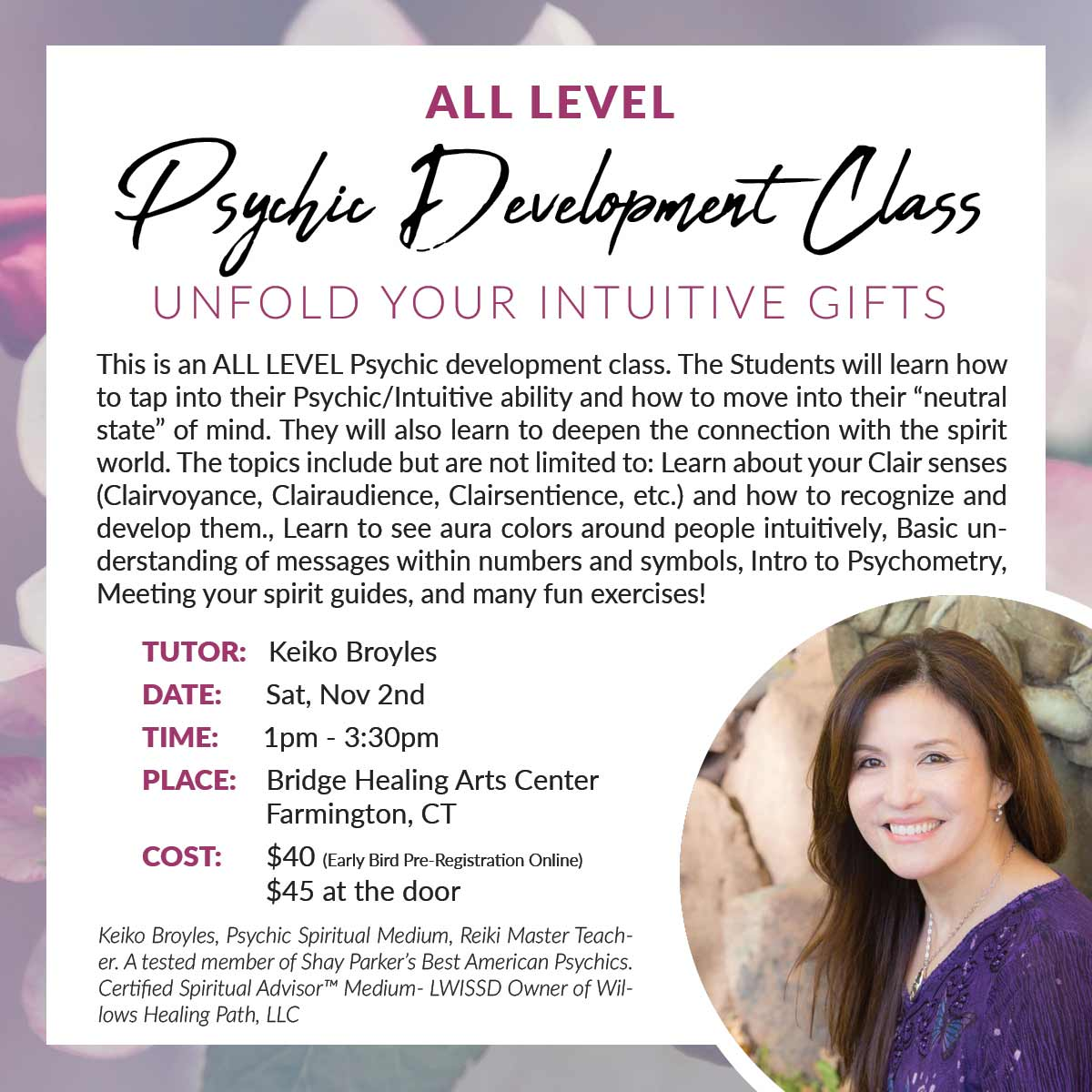 All Level Psychic Development Class