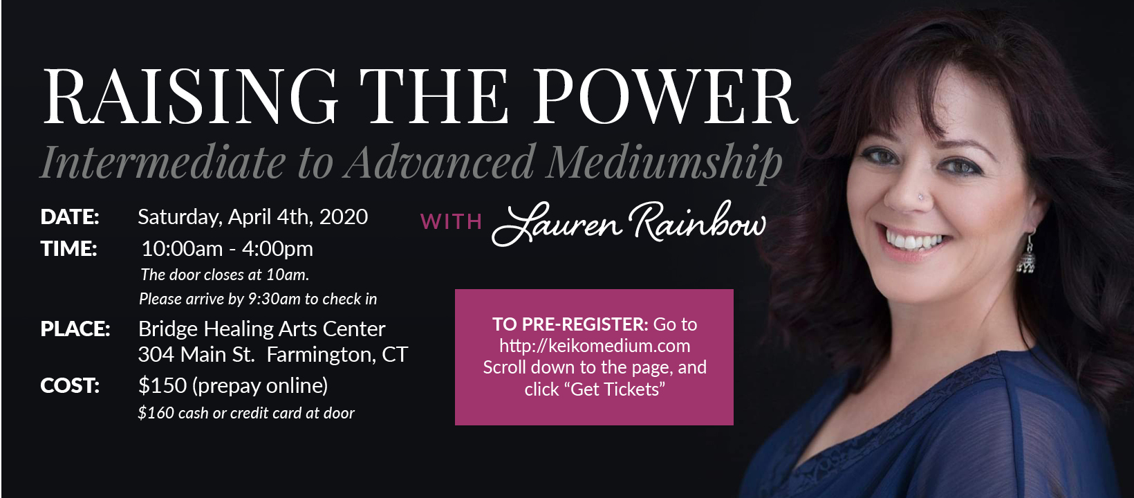 Raising The Power - Intermediate to Advanced Mediumship Workshop
