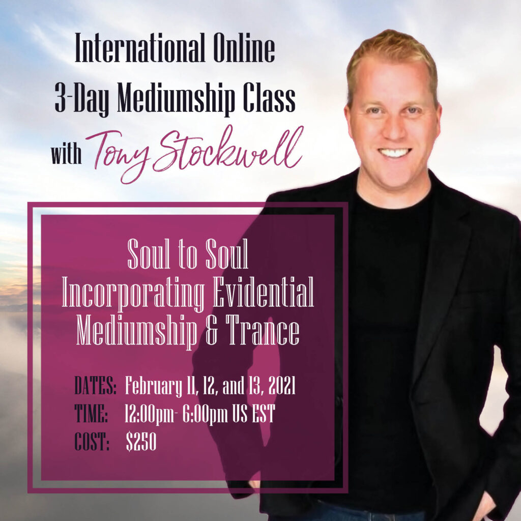 International Online 3-Day Mediumship Class with Tony Stockwell
