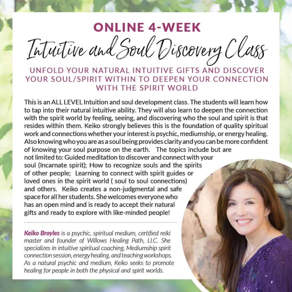 Online 4-week Intuitive and Soul Discovery Class (Day 3)