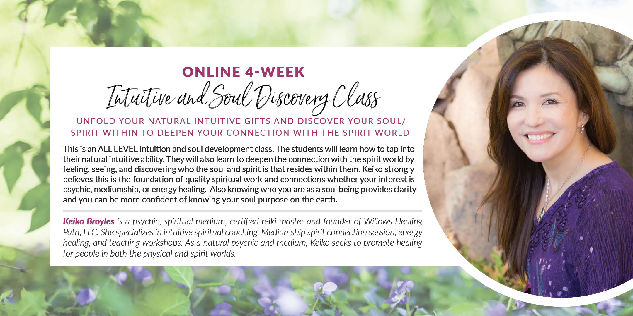 Online 4-week Intuitive and Soul Discovery Class